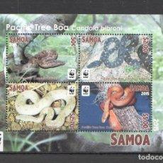 Sellos: SAMOA - HB - SERIE COMPLETA - SERPIENTES - NUEVA, SIN FIJASELLOS . Lote 156548682