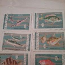 Sellos: SELLOS VIETNAM NORTE MTDOS/1967/PECES/PESCADO/VIDA, FAUNA NARINA/ANIMALES/CORALES/ARRECIF. Lote 156670696