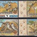 Sellos: SUDÁFRICA. 2001 YVERT Nº 1145 / 1148 /**/, FAUNA DE ÁFRICA. . Lote 157133010