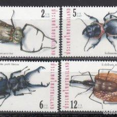 Francobolli: TAILANDIA, 2001 YVERT Nº 1952 / 1952C, INSECTOS. ESCARABAJOS. . Lote 157969382