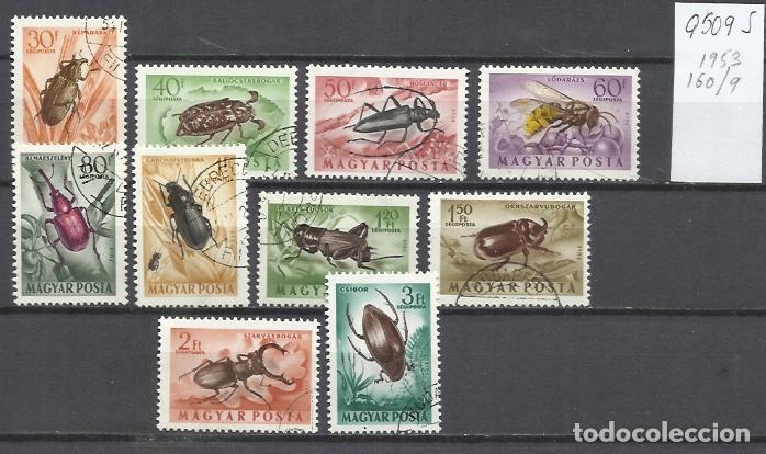 Q509S-SELLOS 1953 SERIE COMPLETA INSECTOS HUNGRIA AEREOS 160/9 BONITOSQ509S-SELLOS 1953 SERIE COMPLE (Sellos - Temáticas - Fauna)