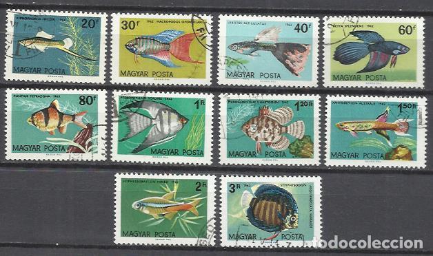 Q509U-SELLOS 1962 SERIE COMPLETA FAUNA MARINA PECES HUNGRIA 1495/04 (Sellos - Temáticas - Fauna)