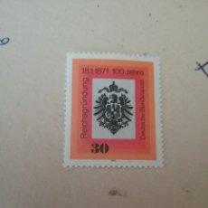 Sellos: SELLOS ALEMANIA, R. FEDERAL NUEVO/1971/I CENT. FUNDACION IMPERIO ALEMAN/ESCUDO ARMAS/AGUILA/HERALDIC. Lote 161456670