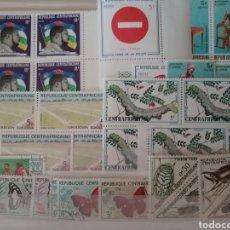 Timbres: SELLOS R. CENTRO-AFRICANA MRDOS/1962/LOTE DE SELLOS/FAUNA/ORUGA/MARIPOSAS/INSECTOS/AGRICULTURA/. Lote 162008456