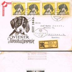 Sellos: AUSTRIA IVERT Nº 1043, 120 ANIVº SOCIEDAD CONTRA EL MALTRATO ANIMAL DE VIENA PRIMER DIA 16-6-1966 CI. Lote 162291110