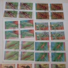 Sellos: SELLOS R. BULGARIA MTDOS (BLOQUE 4)/1992-1993/INSECTOS/MOSCA/FAUNA/CHICHARRA/MANTIS/LIBELULA/. Lote 163557737