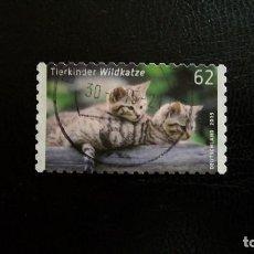 Sellos: FAUNA-ANIMALES DE COMPANIA-GATOS-RFA-2015-62C. /º/. Lote 171620765