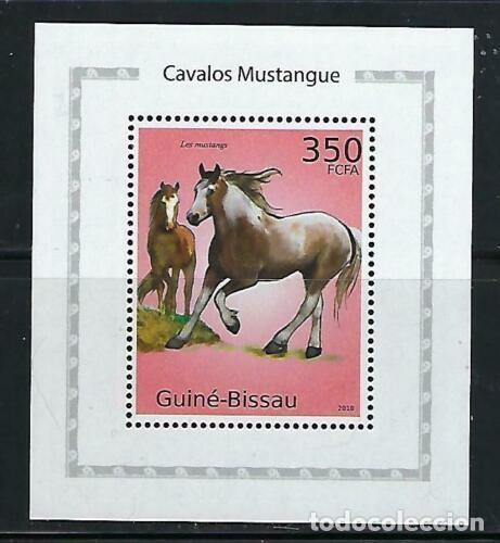 GUINEA BISSAU 2010 HB *** FAUNA - CABALLOS MUSTANG (Sellos - Temáticas - Fauna)