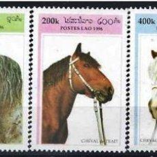 Sellos: LAOS 1996 - CABALLOS - HORSES - CHEVAUX - YVERT Nº 1237-1241**. Lote 164852786
