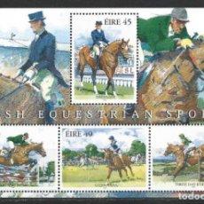 Timbres: IRLANDA 1998 - CABALLOS - HIPICA - YVERT BLOCK Nº 28**. Lote 167785760