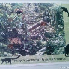 Sellos - India fauna autóctona hoja bloque de sellos nuevos - 167922376