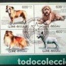 Sellos: PERROS HOJA BLOQUE DE SELLOS USADOS DE GUINEA BISSAU. Lote 168168400