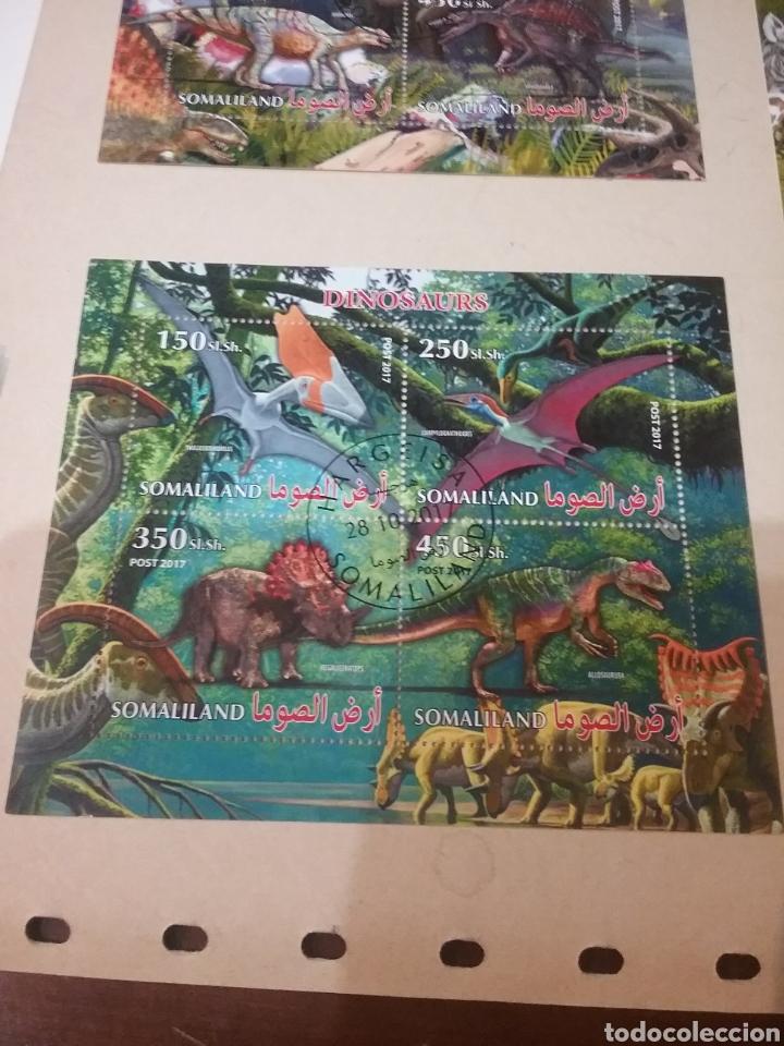 HB R. SOMALILANDIA (SOMALILAND) MTDA/2015/DINOSAURIOS/ANIMALES/PREHISTORIA/FAUNA/FLORA/MESOZOICO/NAT (Sellos - Temáticas - Fauna)