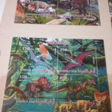 Sellos: HB R. SOMALILANDIA (SOMALILAND) MTDA/2015/DINOSAURIOS/ANIMALES/PREHISTORIA/FAUNA/FLORA/MESOZOICO/NAT. Lote 168758986