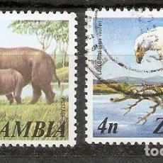 Sellos: ZAMBIA,1975. FAUNA. Lote 170853465