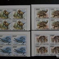Sellos: BURUNDI-2011-Y&T 1209/12**(MNH)-ANIMALES PREHISTORICOS. Lote 173484754