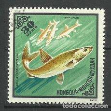 Sellos: FAUNA MONGOLIA - SELLO USADO. Lote 176218570