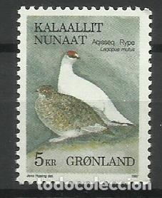 FAUNA GROENLANDIA - SELLO USADO (Sellos - Temáticas - Fauna)