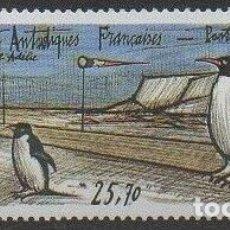 Sellos: TAAF TERRITORIO ANTARTICO FRANCES 1992 Y&T 124 AEREO** PINGUINOS. Lote 176408508