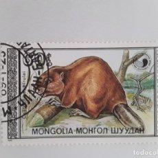 Sellos: MONGOLIA SELLO USADO TEMA FAUNA. Lote 176760604