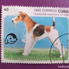 Sellos: SELLO DE CUBA. AÑO 1992. FAUNA, PERRO. FOX TERRIER. Lote 179249965