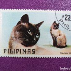 Sellos: SELLO DE FILIPINAS. FAUNA. GATOS SIAMESES . Lote 179251936