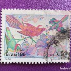 Sellos: SELLO DE BRASIL. YVERT 1813. FAUNA. PÁJAROS . Lote 179259971