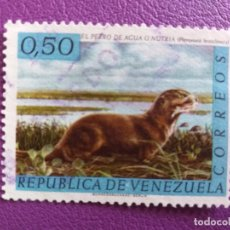 Sellos: SELLO DE VENEZUELA. FAUNA. PERRO DE AGUA O NUTRIA.. Lote 179262968