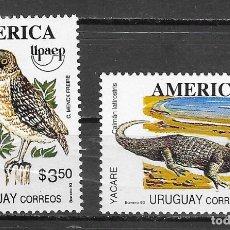 Sellos: URUGUAY Nº 1463 AL 1464 (**). Lote 180031216