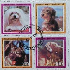 Sellos: GUINEA ECUATORIAL PERROS 1978 GE-01. Lote 180464467