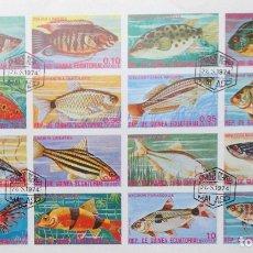 Sellos: GUINEA ECUATORIAL PECES 1974 GE-07. Lote 180465331