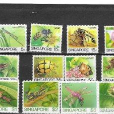 Sellos: SINGAPUR Nº 455 AL 466 (**). Lote 184002406