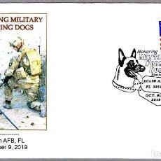 Sellos: MATASELLOS HONORING MILITARY WORKING DOGS - PERROS MILITARES. EGLIN AFB, FL, ESTADOS UNIDOS, 2019. Lote 184030811