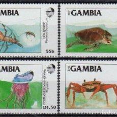 Sellos: GAMBIA 1984 IVERT 528/31 *** FAUNA MARINA. Lote 184033238