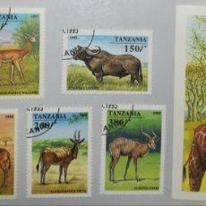Sellos: TANZANIA 1995 ANIMALES ANIMALS FAUNA SERIE COMPLETA. Lote 184104023