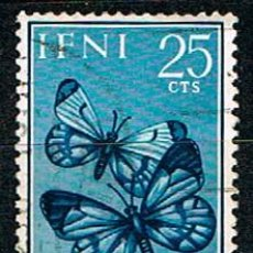 Sellos: IFNI EDIFIL 195, MARIPOSA AURORA (PRO INFANCIA 1963, LYSANDRA PHOEBUS, USADO. Lote 187523757