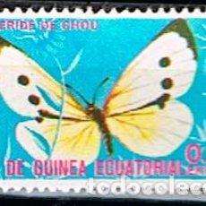 Sellos: GUINEA ECUATORIAL Nº 1013, MARIPOSA: BLANQUITA DE CAL, USADO. Lote 187536950