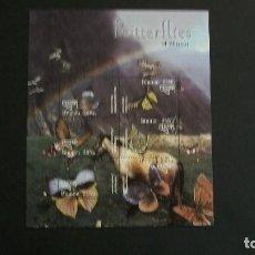 Francobolli: INSECTOS-MARIPOSAS-BHUTAN-2003-MINIPLIEGO(SERIE COMPLETA) EN NUEVO**(MNH). Lote 188846266