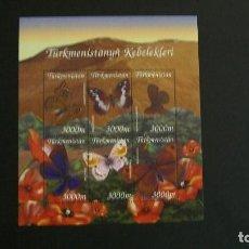 Francobolli: INSECTOS-MARIPOSAS-TURKMENISTAN-2002-MINIPLIEGO(SERIE COMPLETA) EN NUEVO**(MNH). Lote 188849232