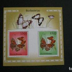Francobolli: INSECTOS-MARIPOSAS-GUINEA BISSAU-2010-BLOQUE EN NUEVO**(MNH). Lote 188862362