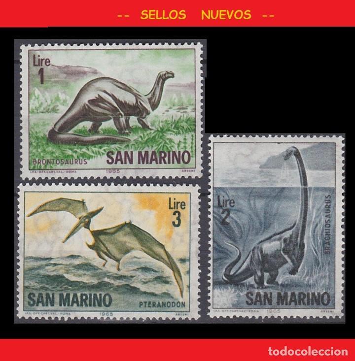LOTE SELLOS NUEVOS - SAN MARINO - DINOSAURIOS - AHORRA GASTOS COMPRA MAS SELLOS (Sellos - Temáticas - Fauna)