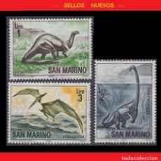 Sellos: LOTE SELLOS NUEVOS - SAN MARINO - DINOSAURIOS - AHORRA GASTOS COMPRA MAS SELLOS. Lote 191648987