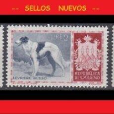 Timbres: LOTE SELLOS NUEVOS - SAN MARINO - ANIMALES - PERROS - AHORRA GASTOS COMPRA MAS SELLOS. Lote 191649790