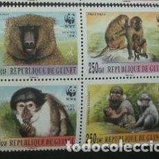 Sellos: GUINEA 2000 *** FAUNA - MONOS. Lote 197343548