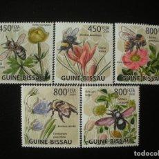 Sellos: GUINEA BISSAU 2009 M 4462/66 *** FAUNA Y FLORA - LAS ABEJAS. Lote 198331871