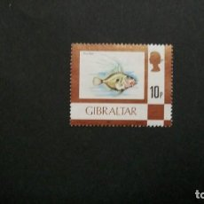 Francobolli: /26-03/-GIBRALTAR-1977-10 C. Y&T 357 EN NUEVO SIN GOMA(*MH)-FAUNA MARINA. Lote 198359541
