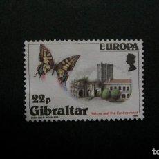 Francobolli: /26-03/-GIBRALTAR-1986-22 P. Y&T 513 EN NUEVO SIN GOMA(*MH)-MARIPOSAS. Lote 198360046