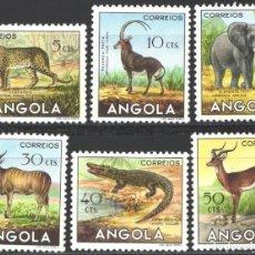 Francobolli: ANGOLA, 1953 YVERT Nº 357 / 362, SERIE CORTA, FAUNA SALVAJE, . Lote 198644756