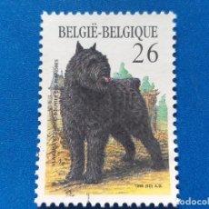 Sellos: SELLO DE BÉLGICA. AÑO 1986. MI 2268, YT 2216. FAUNA. ANIMALES. PERROS. PERRO PASTOR DE FLANDES.. Lote 198967400