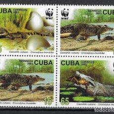 Sellos: CUBA Nº 4117 AL 4120 (**). Lote 199054865